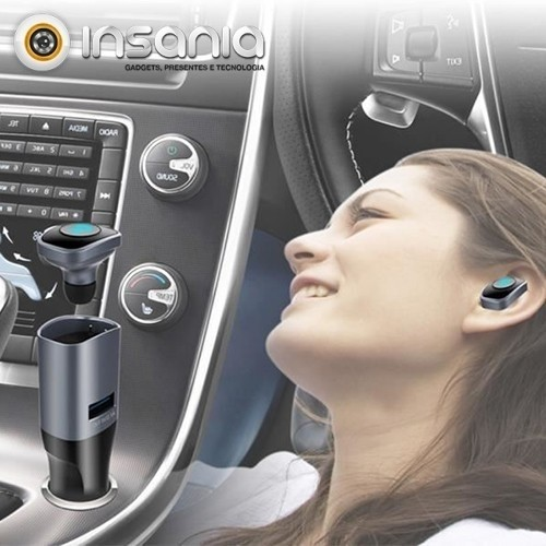 Auricular Mãos-livres com Carregador para o Carro Saturno