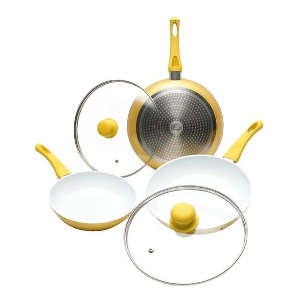 Frigideiras de Alumínio Efeito Dourado (Pack 5)