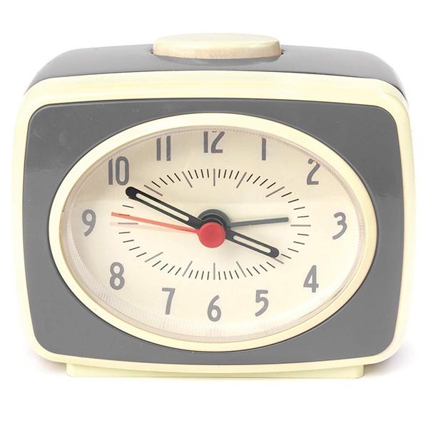 Relógio Despertador Retro Cinzento