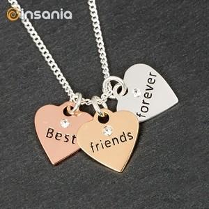 Colar 3 Corações Amizade Equilibrium