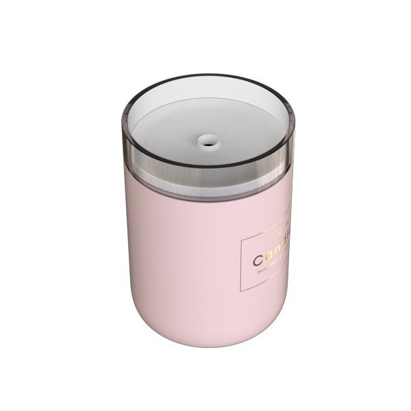 Humidificador Candle Light Qushini Rosa