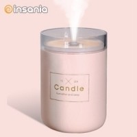 Humidificador Candle Light Qushini Rosa