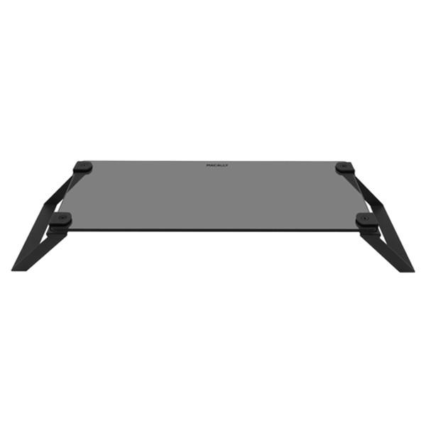 Macally Black SpaceStand - Soporte para cristal, color negro