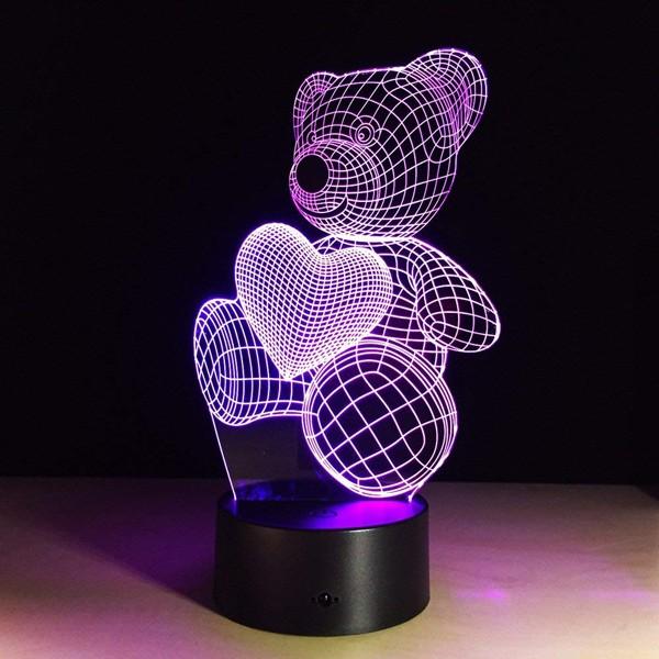 Lâmpada de Ilusão 3D