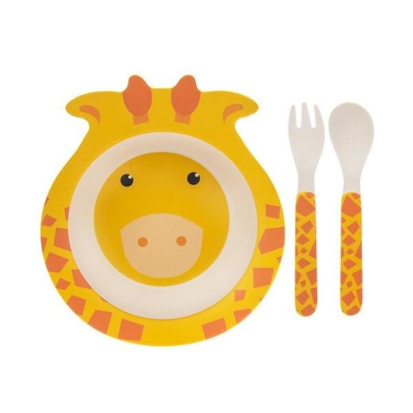 Kids Eco - Juego de comida de bambú, diseño de jirafa