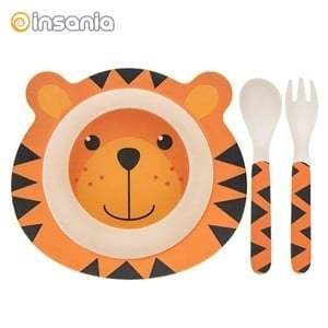 Conjunto de Refeição de Bambu Eco Tigre para Criança