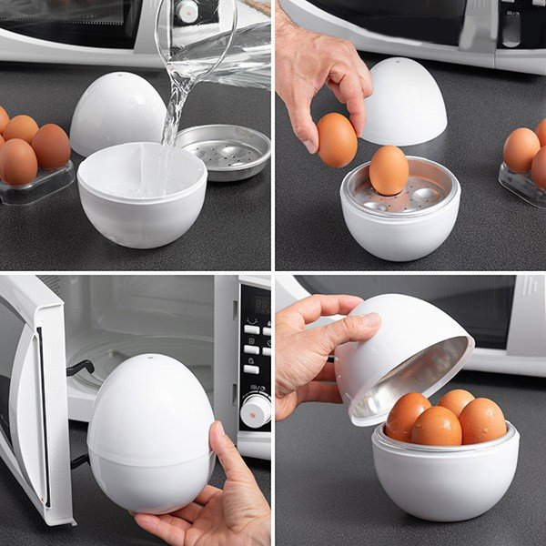 Cozedor de Ovos para Micro-ondas Boilegg