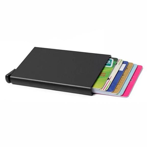 Porta-Cartões em Alumínio Preto