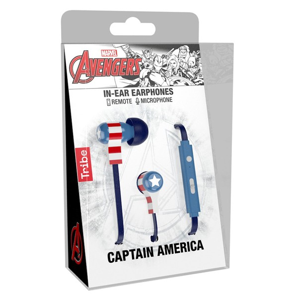 Tribe Auriculares Swing Marvel Captain America