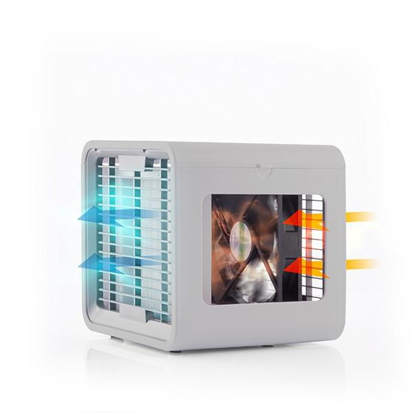 Mini Climatizador a Vapor com LED Freezy Cube