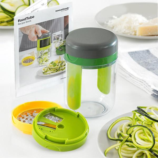 Rallador y cortador de verduras en espiral