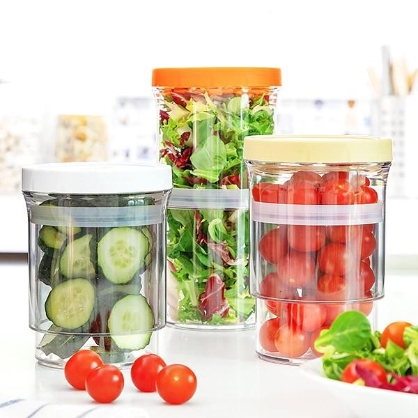 Recipientes de Cozinha Ajustáveis e Herméticos (Pack 3)