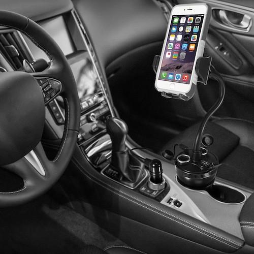 Suporte de Telemóvel para o Carro com Carregador USB Macally