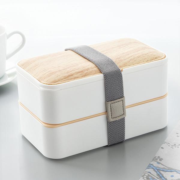 Lancheira Hermética Dupla com Talheres Bento Box