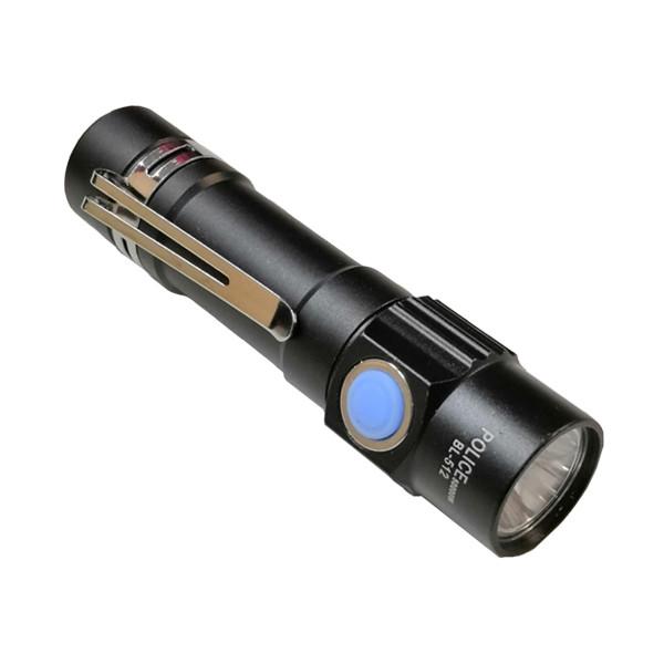 Mini Lanterna Tática LED 50000 W com Estojo