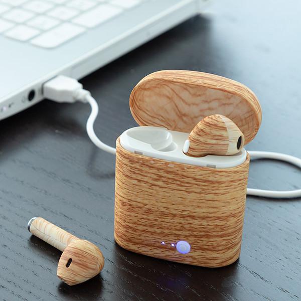 Auriculares Sem Fios Efeito Madeira Smartpods W